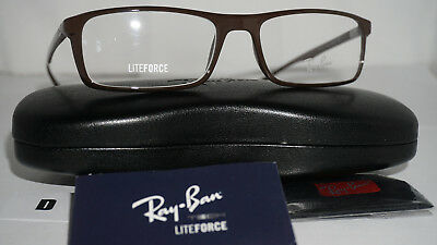 2aa4b3aef1 NWT RAY BAN Liteforce Shiny Red Eyeglasses Frames RB7035-5435 size ...