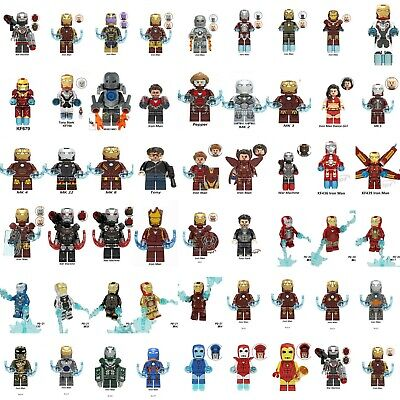 Custom fit Lego The Avengers 4 End Game Minifigures Toys Iron Man & Tony Stark