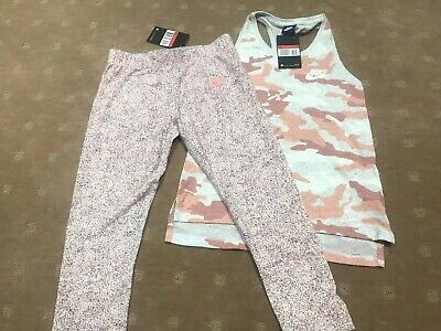 Nike Girls 2 Piece Sports Set Tights & Top Size Large 12Y Brand New With Tags