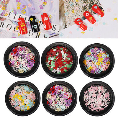 Ultrathin Nail Art Sequins Colorful Shiny Stickers Tips DIY Manicure Decoration