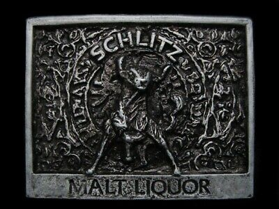 MJ11123 VINTAGE 1970s **SCHLITZ MALT LIQUOR** BEER BELT BUCKLE