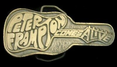MJ25170 GREAT  VINTAGE 1970s **PETER FRAMPTON COMES ALIVE** (BAND) MUSIC BUCKLE