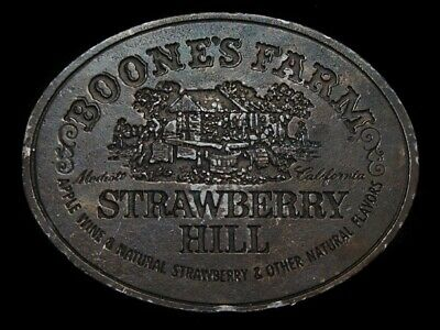NC25157 VINTAGE 1970s **BOONE'S FARM STRAWBERRY HILL** BOOZE BELT BUCKLE