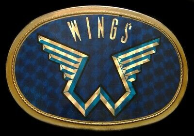 Mj10160 Great Vintage 1977 Pacifica ***Wings*** Rock Music Band Buckle