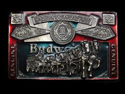Na07147 Vintage 1982 **Genuine Budweiser** Beer Belt Buckle