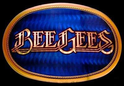 Mj06135 Great Vintage 1978 Pacifica **Bee Gees** Rock Music Band Belt Buckle