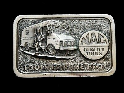 ND09138 *NOS* VINTAGE 1970s **MAC TOOLS FOR THE PRO** BELT BUCKLE