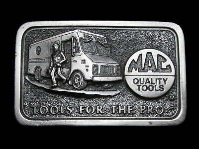 MJ15139 *NOS* VINTAGE 1970s **MAC QUALITY TOOLS FOR THE PRO** BELT BUCKLE
