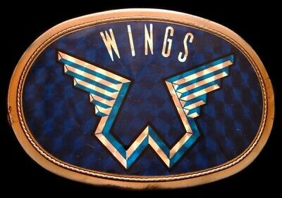Mj10163 Cool Vintage 1977 Pacifica ***Wings*** Rock Music Band Buckle