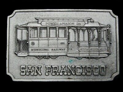 Na07163 Vintage 1975 **San Francisco Cable Car** Souvenir Belt Buckle