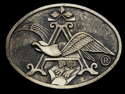 MJ25121 VINTAGE 1970s ***ANHEUSER-BUSCH (EAGLE EMBLEM)*** BEER BELT BUCKLE