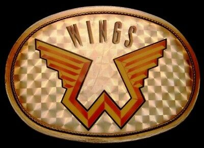 Mj10167 Rare Vintage 1976 Pacifica ***Wings*** Rock Music Band Buckle