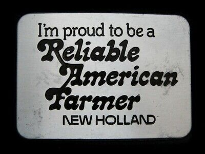 Nd19132 *Nos* Vintage 1982 *Proud To Be A Reliable American Farmer* Belt Buckle