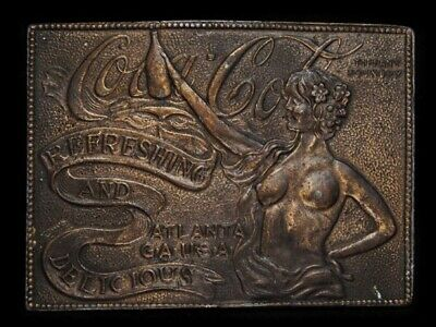 NC31137 VINTAGE 1970s **COCA-COLA REFRESHING AND DELICIOUS** BELT BUCKLE