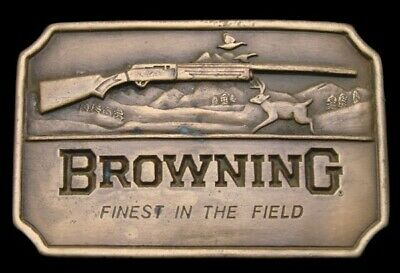 MJ26141 VINTAGE 1970s ***BROWNING*** SHOTGUN FIREARMS FINEST IN THE FIELD BUCKLE