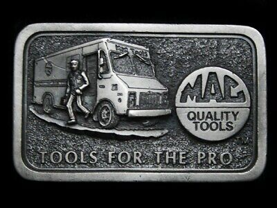 MJ21154 VINTAGE 1970s **MAC QUALITY TOOLS - TOOLS FOR THE PRO** BELT BUCKLE