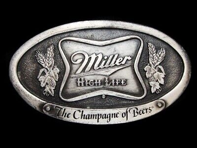 Nc11130 Vintage 1975 **Miller High Life The Champagne Of Beers** Belt Buckle