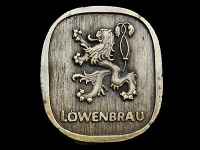 NA15140 VINTAGE 1970s ****LOWENBRAU**** BEER BELT BUCKLE