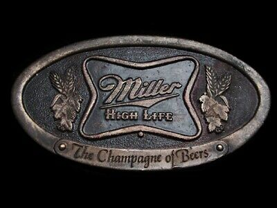 Na23173 Vintage 1975 **Miller High Life The Champagne Of Beers** Belt Buckle