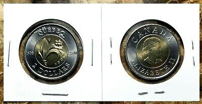 Canada 2008 Quebec 400th Anniversary BU UNC From Mint Roll!!