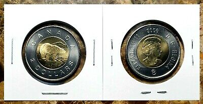 Canada 2006 Logo Toonie BU UNC From Mint Roll!!