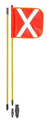 Whip Aerial with Spring Base & Reflective Flag