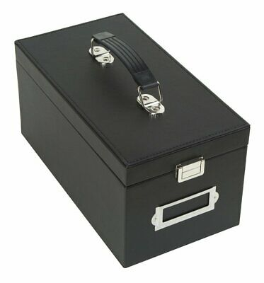 Media Storage Box CD Case Bag DVD Organizer Holder with 50 Cases Handle to Carry
