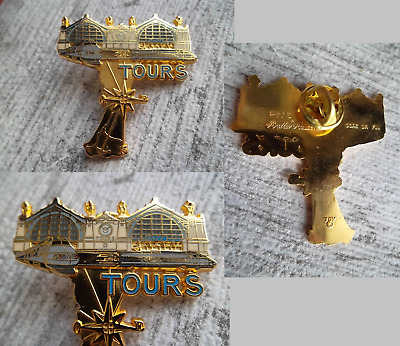 1Beau Pin's Ballard Collection Gare De Tour Tgv Sncf En Metal Dore Or Fin