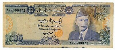 Pakistan 1000 Rupees ND (1988- ) P. 43 VG Note