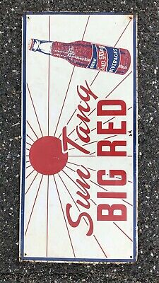 Collectibles Original Vintage Rare Metal Big Red Dog Food Sign W/ Gr8 Graphic 22x6 Nice!