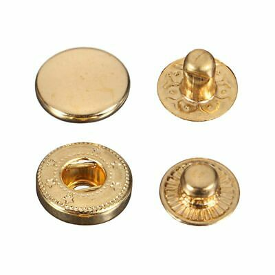 15X Druckknoepfe Druckknopf Snap Klick Buttons 15mm fuer gold Farbe S7I8