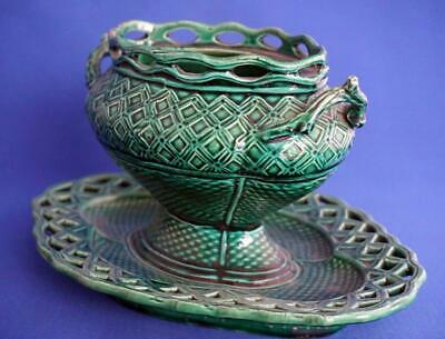 Rubelles Faience Majolica Pottery French Antique  Tureen