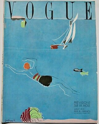 1932 Art Deco VOGUE 30s vintage fashion Paris haute couture Schiaparelli  Manet