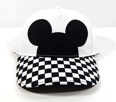94815f22 Vans x Disney Mickey Mouse Checkerboard Court Side Hat Adjustable New With  Tags