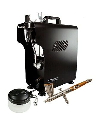Professional Airbrushing Kit - Paasche Talon Airbrush & Sparmax 620X Compressor