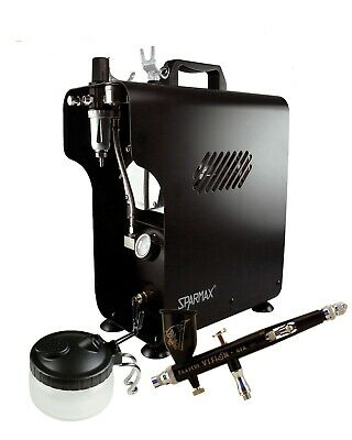 Professional Airbrushing Kit - Paasche Vision Airbrush & Sparmax 620X Compressor