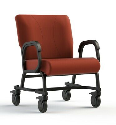 "NEW Comfortek Titan Castered CORDOVAN 24"" Seat Rolling Chair"