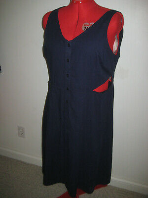940fd1bdc0 Nwt Womens  90 Lane Bryant 5-Button Sleeveless Strap Lined Navy Dress Size  20
