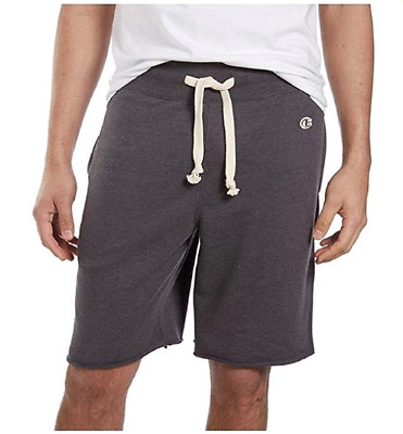 Champion Men's Elastic Waistband w/Drawstring French Terry Short-Charcoal Gray
