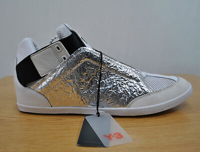 differently 28f4d 65d71 Adidas Y-3 Yohji Yamamoto Kazuhiri Silver Foil Sneakers sz 12 (marked 14)