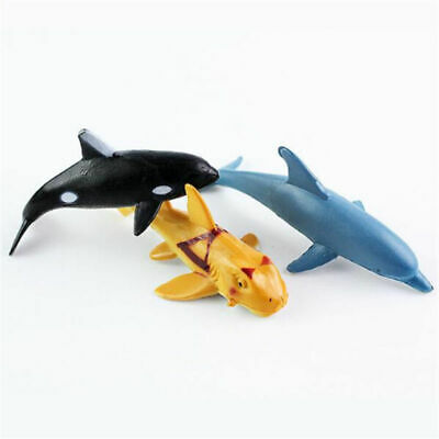 24Pcs Ocean Animals Figure Dolphin Turtle Whale Model Toys Sea Creatures Lot