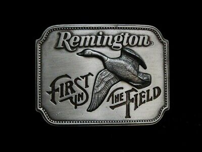 Nd29116 *Nos* Vintage 1980 **Remington First In The Field** Belt Buckle
