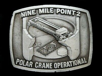 NF03148 VINTAGE 1980s **NINE MILE POINT 2** NUCLEAR POWER PLANT PEWTER BUCKLE