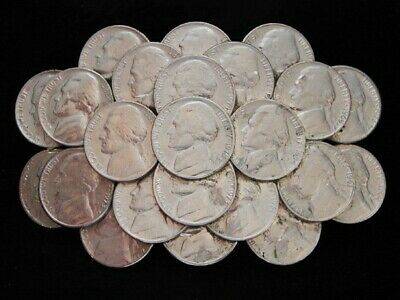 NG19153 VINTAGE 1970s **COLLAGE OF REAL UNITED STATES NICKEL COINS** BELT BUCKLE