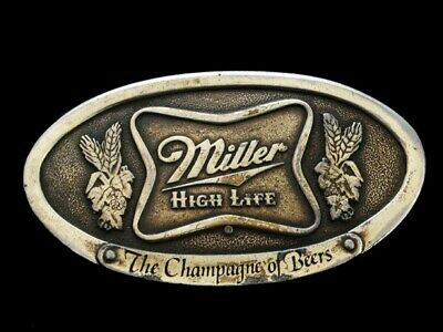 Nf23151 Vintage 1975 **Miller High Life The Champagne Of Beers** Bergamot Buckle