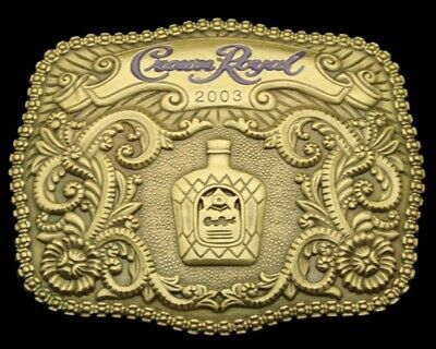 Nh06136 *Nos* Really Fancy 2003 ***Crown Royal*** Whiskey Booze Belt Buckle