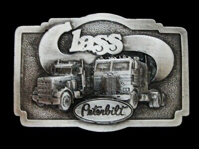 Nf29162 *Nos* Vintage 1978 **Peterbilt Class** Pewter Bergamot Belt Buckle