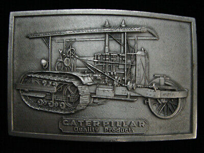 Nh03150 Vintage 1975 **Caterpillar Quality Products** Pewter Belt Buckle