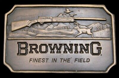 NH02133 *UNUSED* VINTAGE 1970s **BROWNING SHOTGUNS** FINEST IN THE FIELD BUCKLE