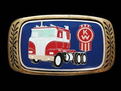 Nf05148 Vintage 1980 **Kw** Truck Company Solid Brass Aminco Belt Buckle